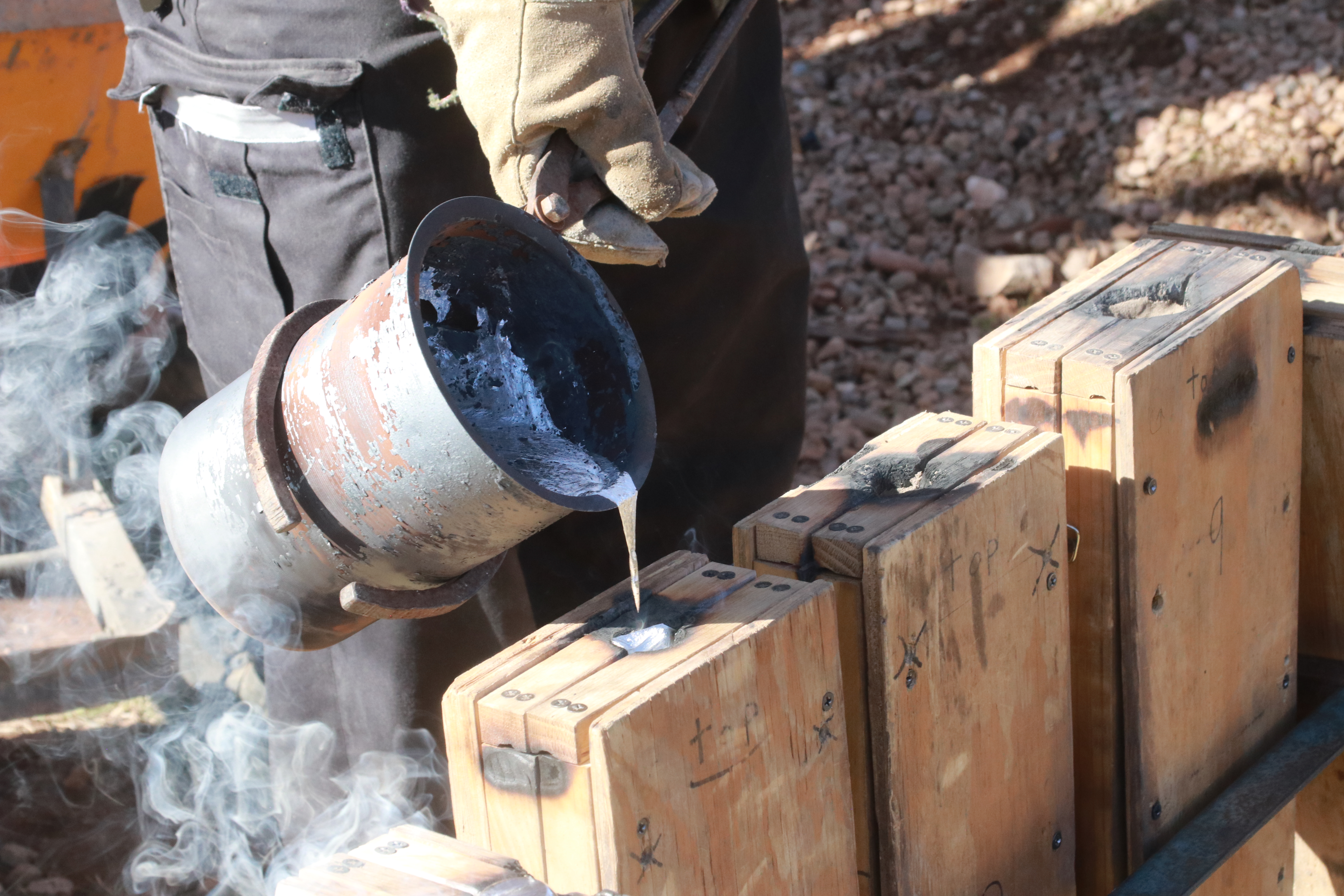 Local students make weapons of molten metal, thanks to help of