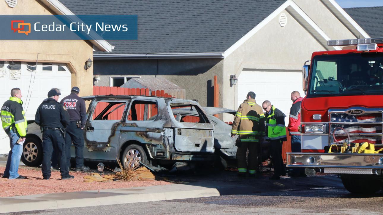 Fire Burns 2 Cars To A Crisp In Cedar City Neighborhood St George News