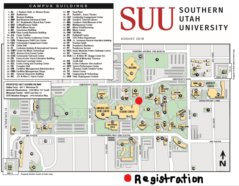 campus map university of utah Southern Utah University Campus Map Map Of The World campus map university of utah