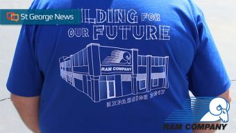Ram Company Employee T Shirt Worn At A Groundbreaking Ceremony For The S 71 000 Square Foot Expansion St George Utah June 6