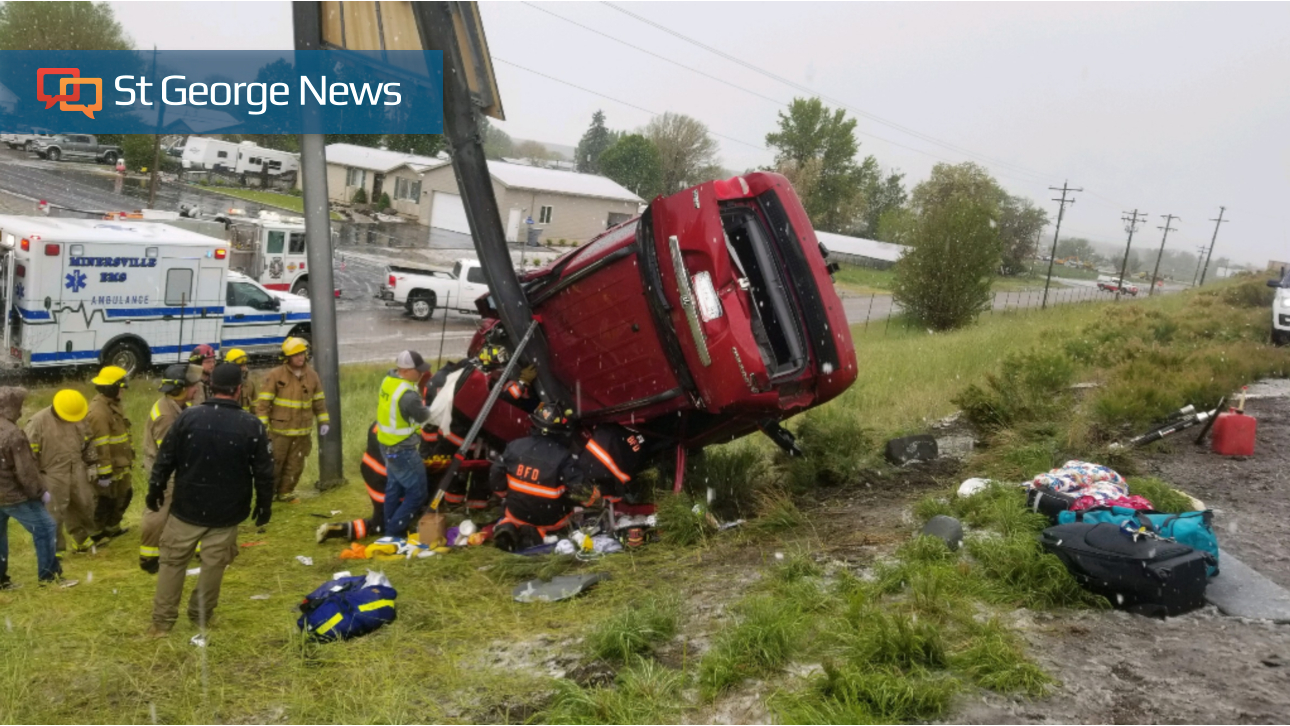 One dead, multiple vehicles damaged after weather-related accidents