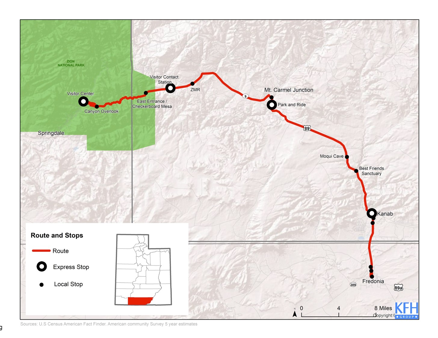 Gateway community' planned for east entrance to Zion National Park on united states route map, purple line route map, chicago route map, mt whitney route map, great lakes route map,
