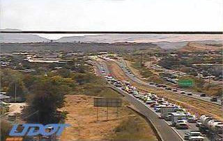 Crash involving allegedly stolen vehicle clogs traffic on I-15 – St