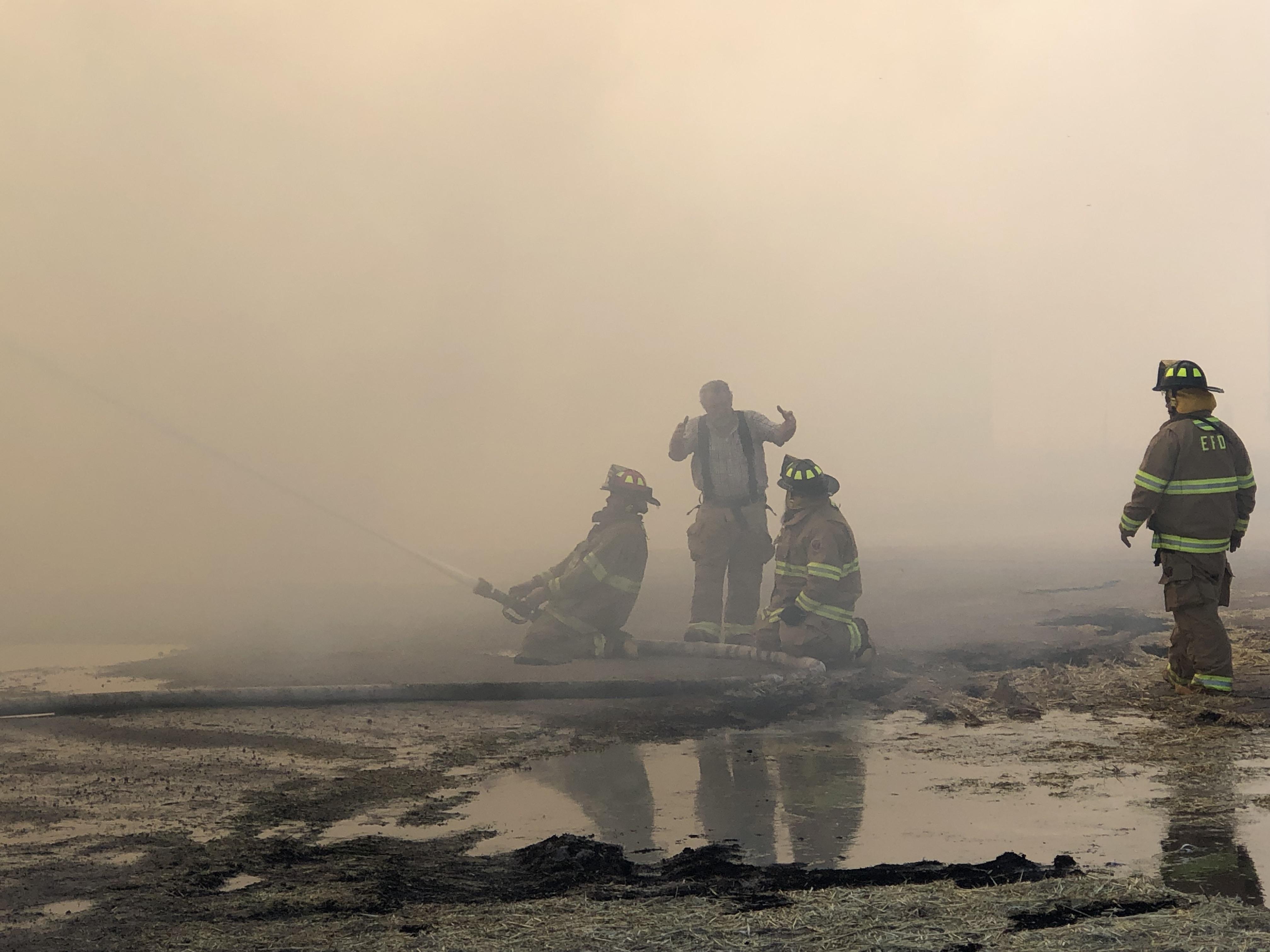 Fire engulfs hay barn in Beryl - St George News