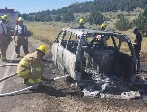 Van catches fire on SR-18 near Central – Utah Channel 3