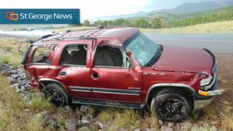 6-year-old partially ejected during rollover on I-15 – St