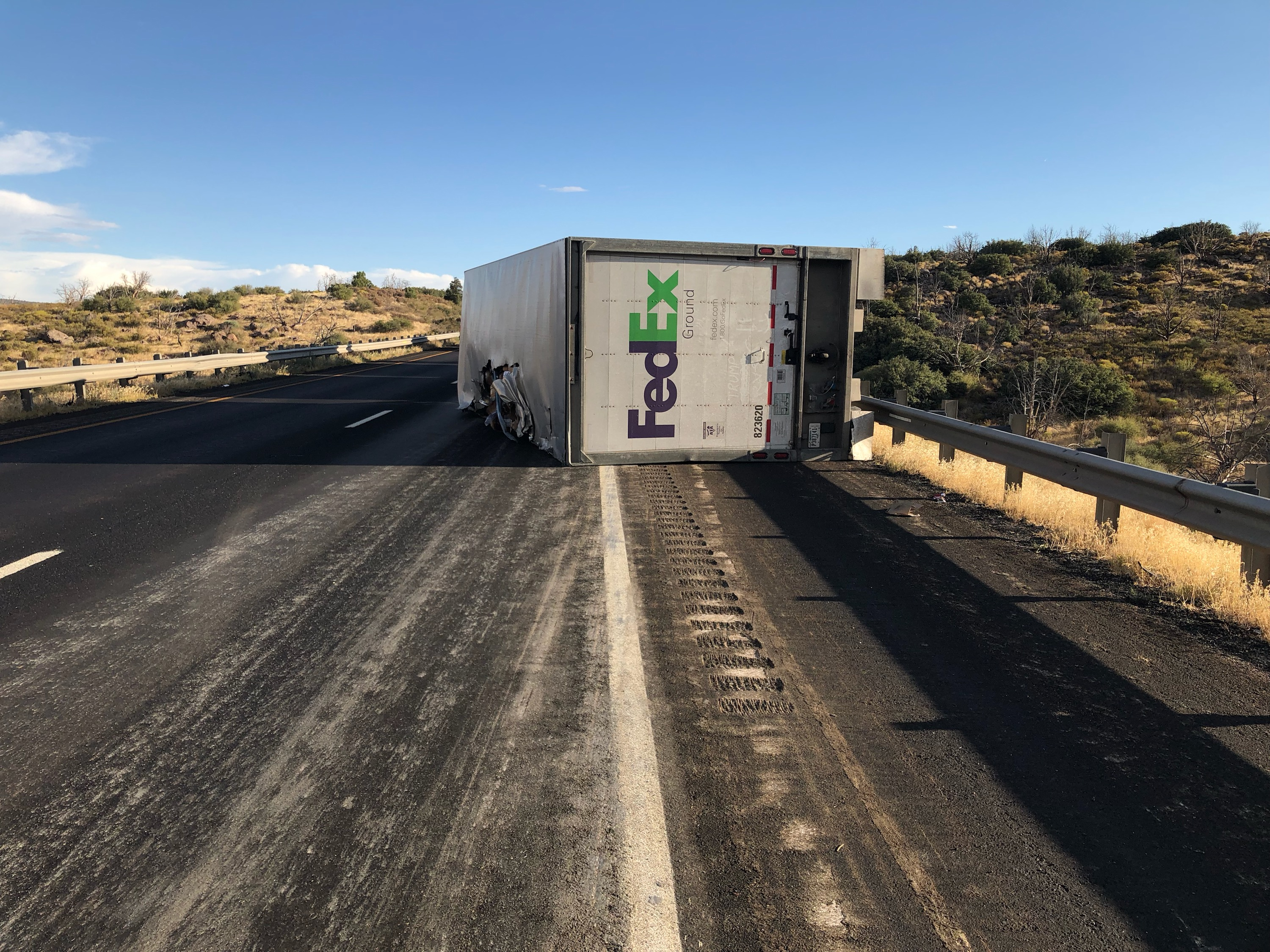 Traffic affected for 3 hours following semi crash on I-15