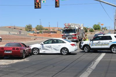 Traffic blocked for nearly an hour following two-vehicle