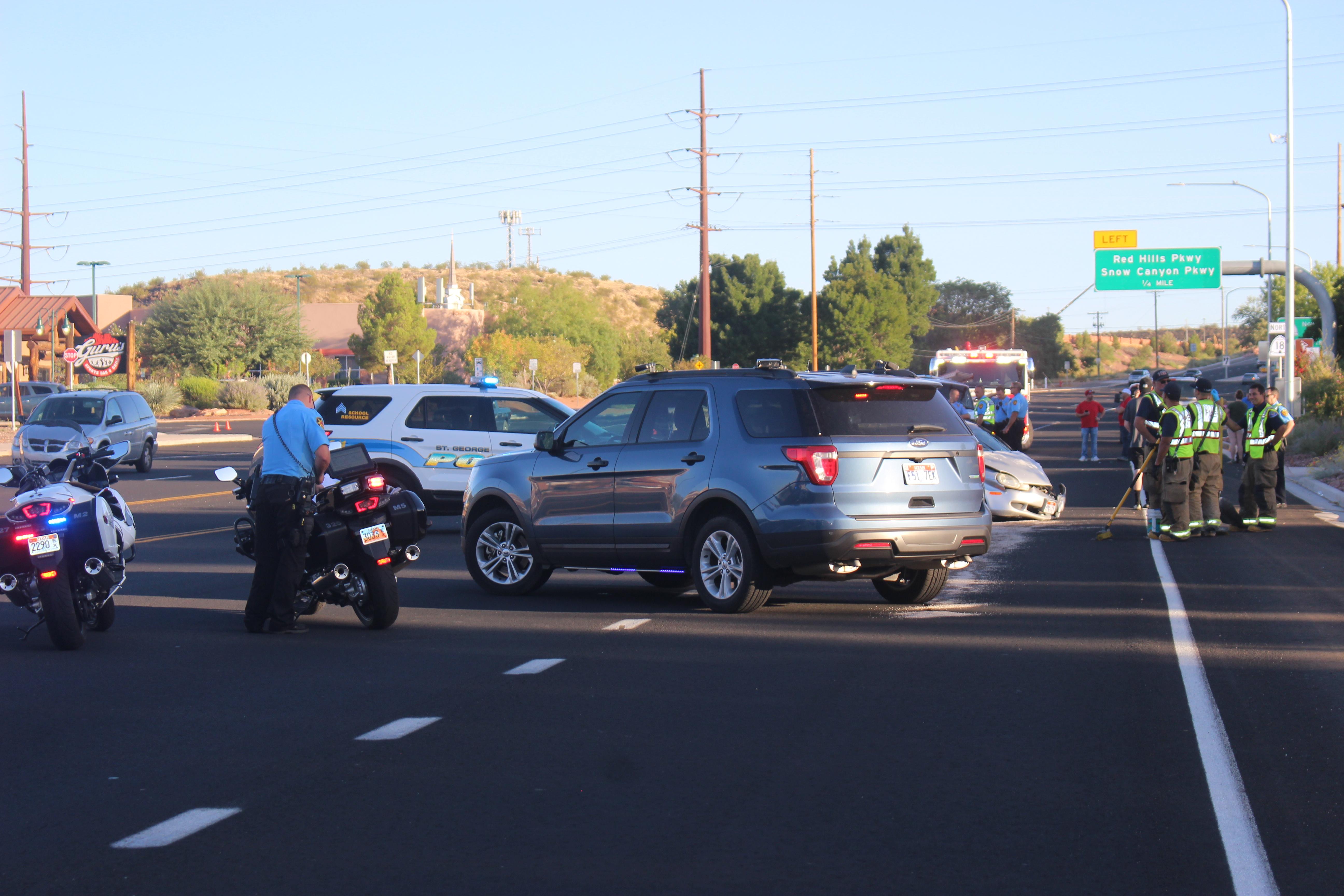 Passenger car triggers 3-vehicle crash on Bluff, driver