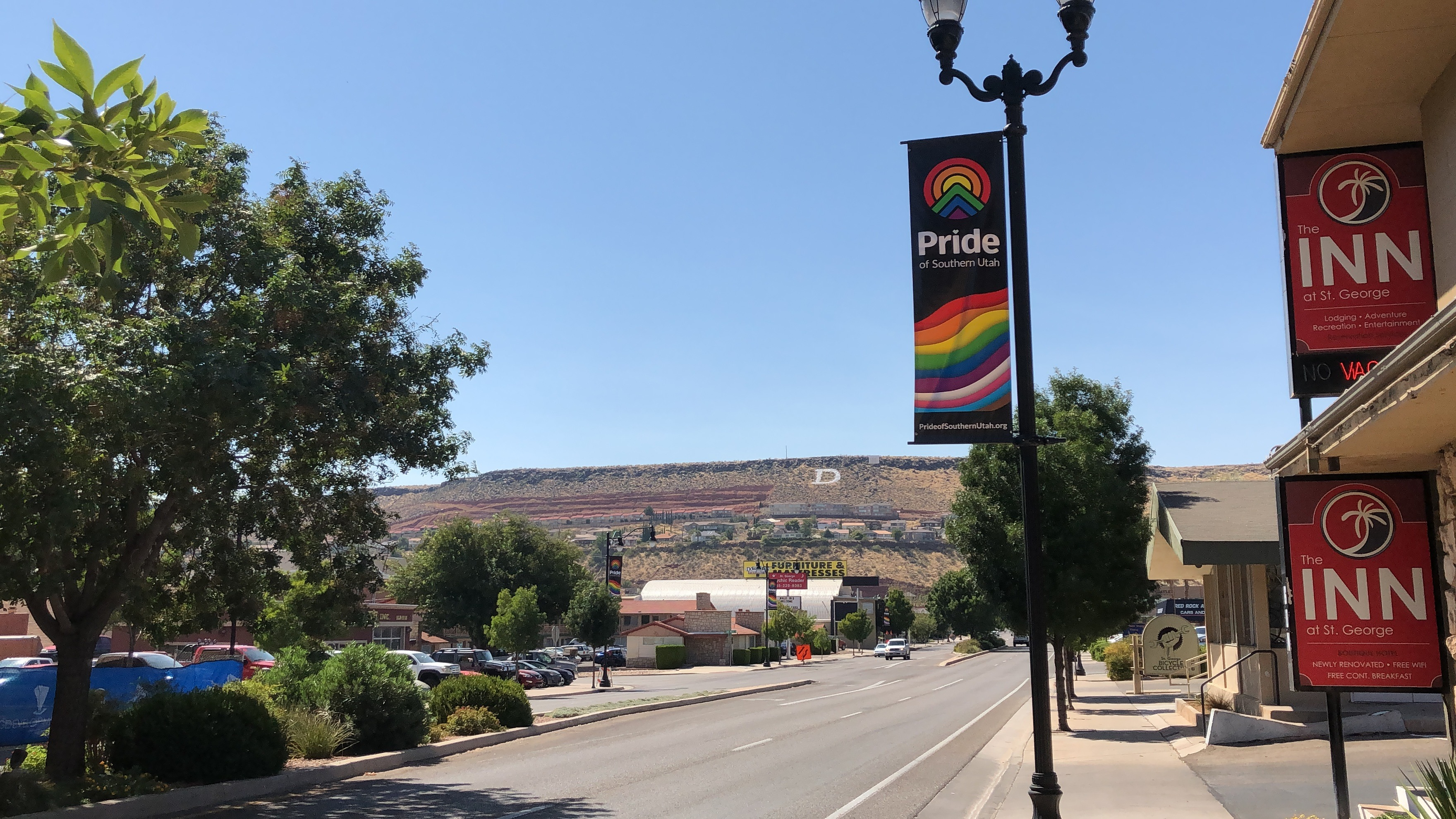 Rainbow banners line St  George streets for Southern Utah