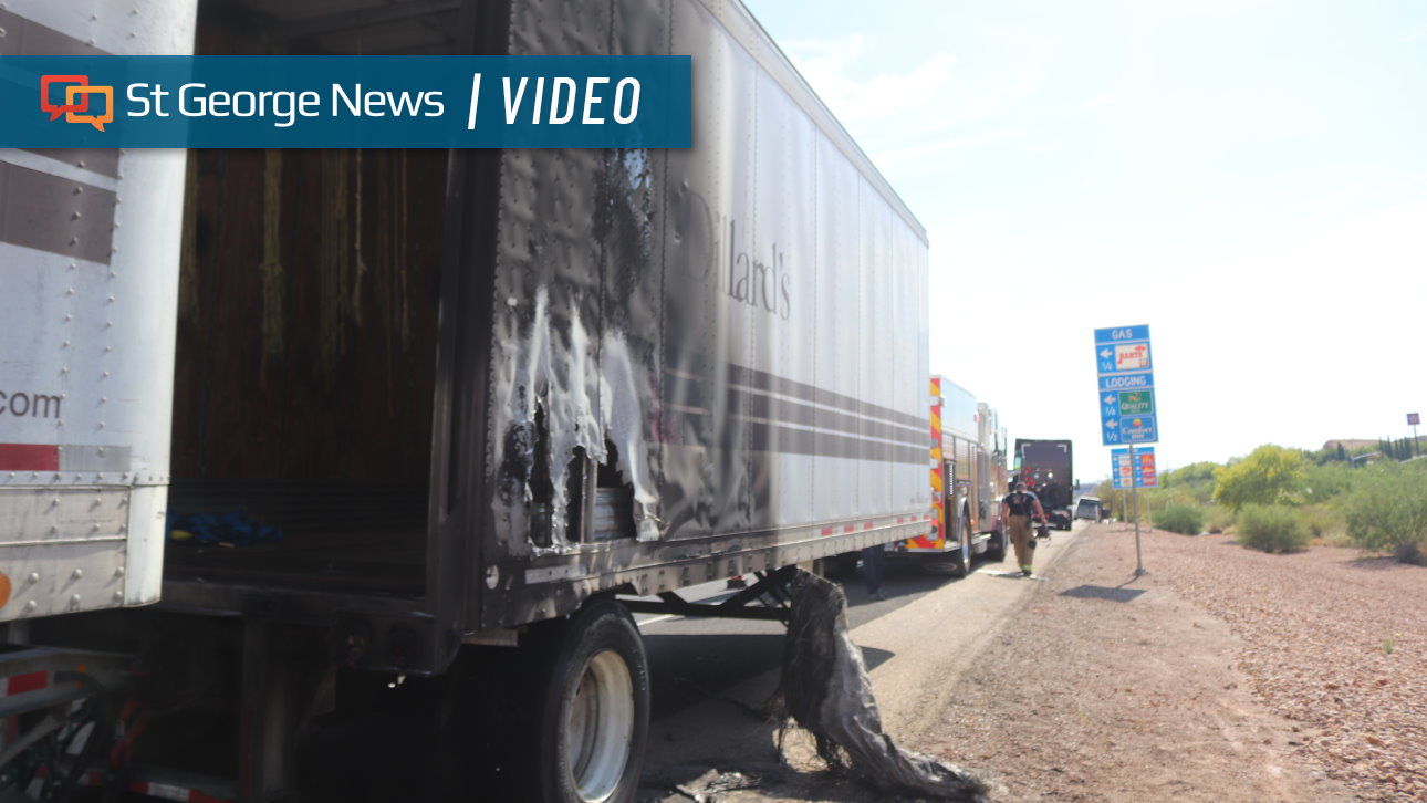 Semi's Trailer Catches Fire, Resulting In Temporary