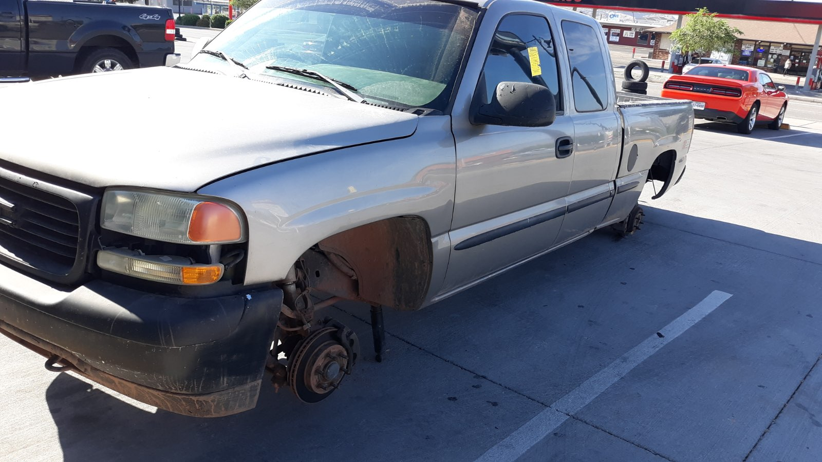 Truck Left Overnight After Service Has Tires And Wheels Stolen St George News