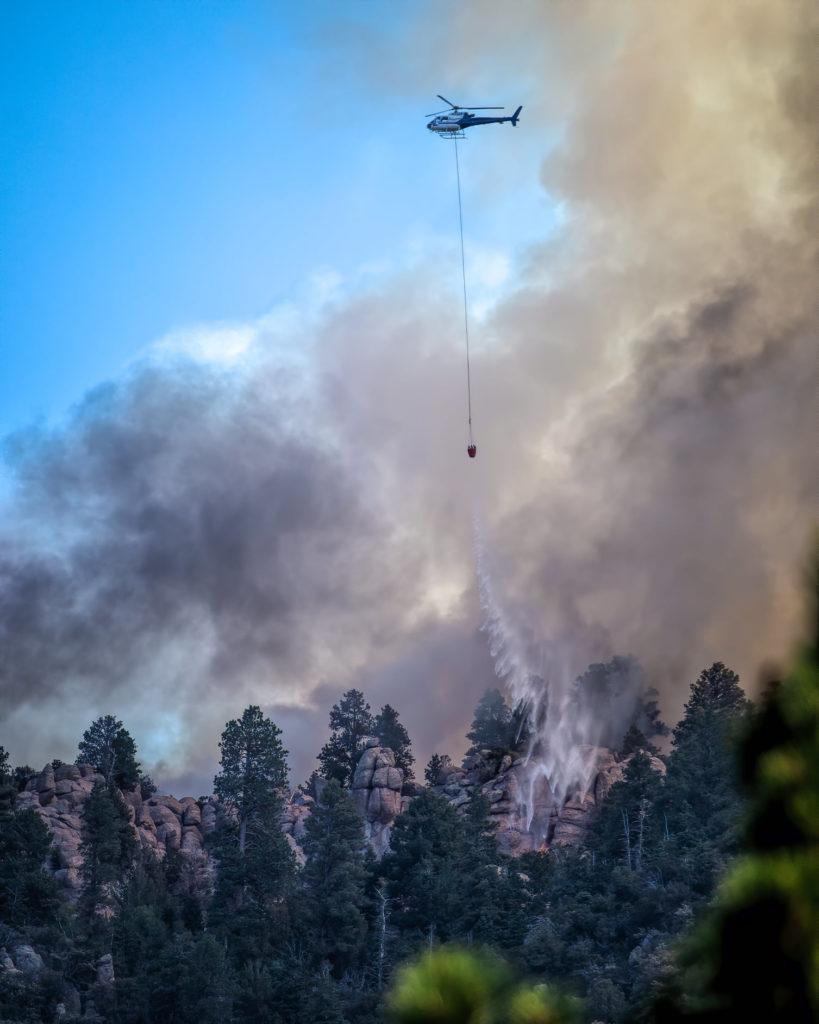 Ground crews being flown to Gardner Fire near Pine Valley ...
