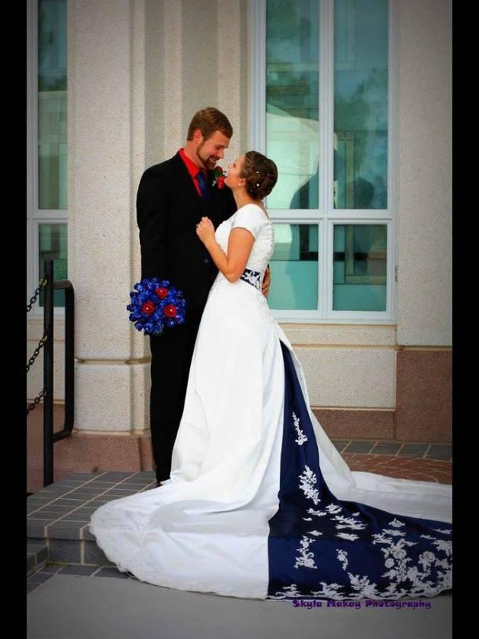 Used Wedding Dresses In Utah: Kenneth pool dutchess satin ballgown ...